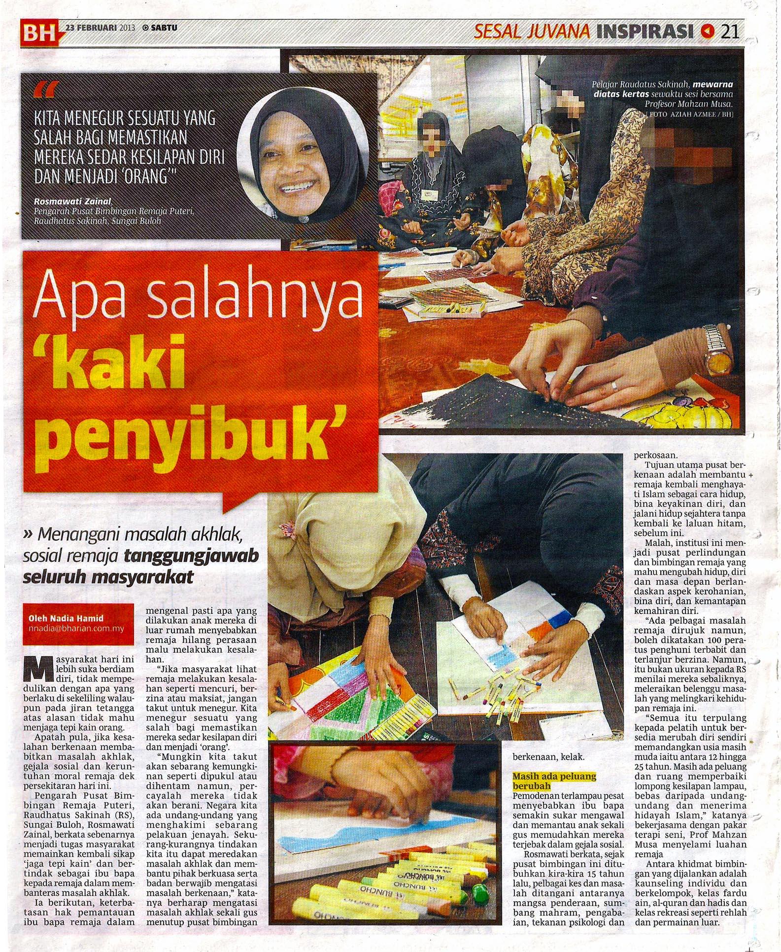 Berita Harian 23 Februari 2013